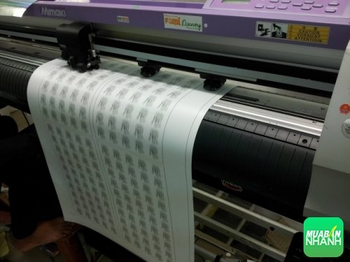 Trực tiếp gia công cấn bế Decal PP, Decal PP tem nhãn bằng công nghệ mắt thần từ máy bế chuyên nghiệp Mimaki