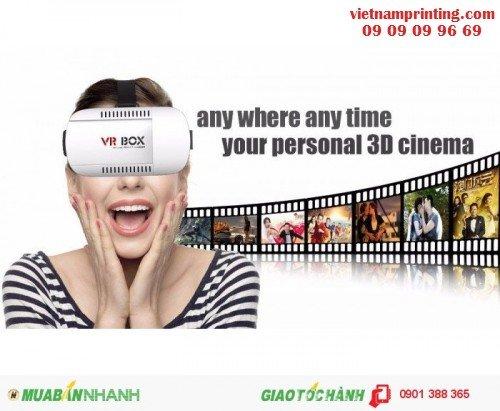 Kính thực tế ảo VR box hỗ trợ xem phim 3D, chơi game 3D